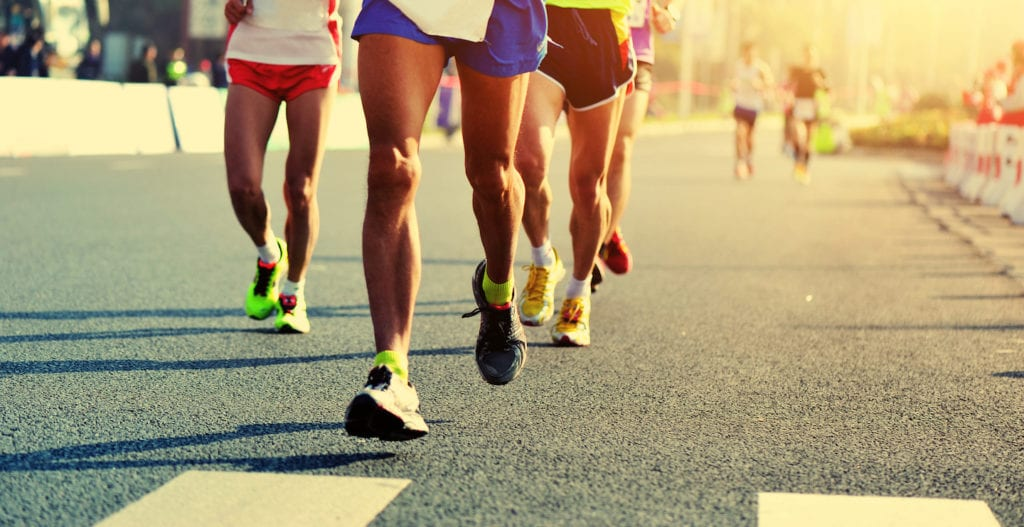 Marathon long distance runners